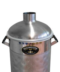 Stainless steel hood on 20 litre Braumeister (available separately)