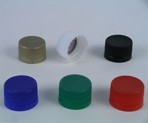 Plastic MCA2 tamper evident screw caps