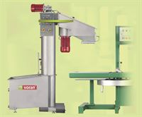 Voran WA LC wash mill with elevator (right) and Voran hydraulic belt press (available separately)