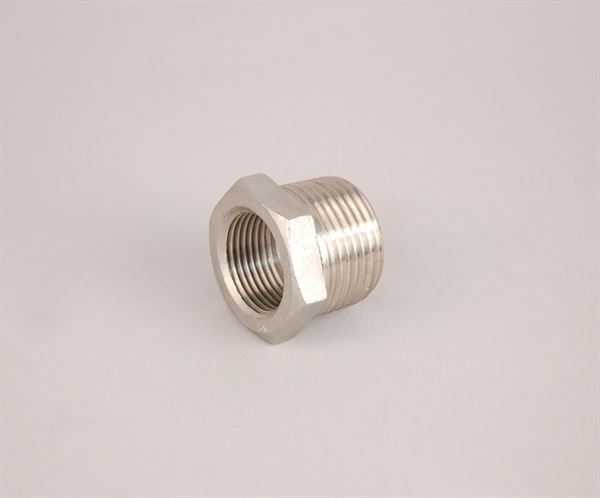 "1"" BSP male to ¾"" BSP female stainless steel reducing bush"