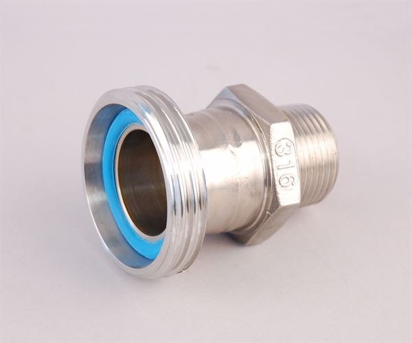 "1"" BSP male x DIN 32 male stainless steel adaptor"