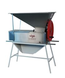 Hand operated grape crusher/destemmer shown mounted on stand (stand available separately)
